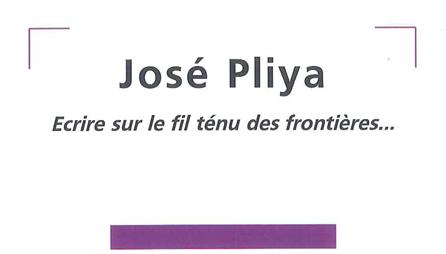 José Pliya - Ecrire sur le fil ténu des fronttières